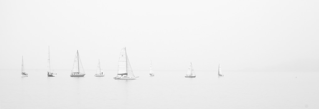 Free stock photo of sea, black-and-white, ocean, boats