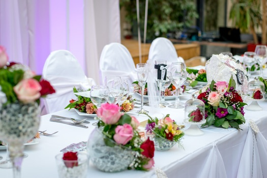 Free stock photo of dinner, table, event, white