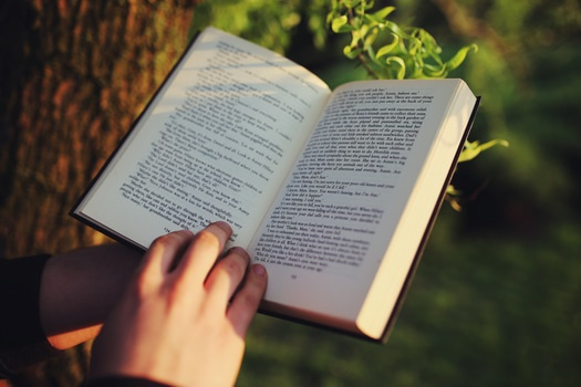 Free stock photo of outside, book, reading, text