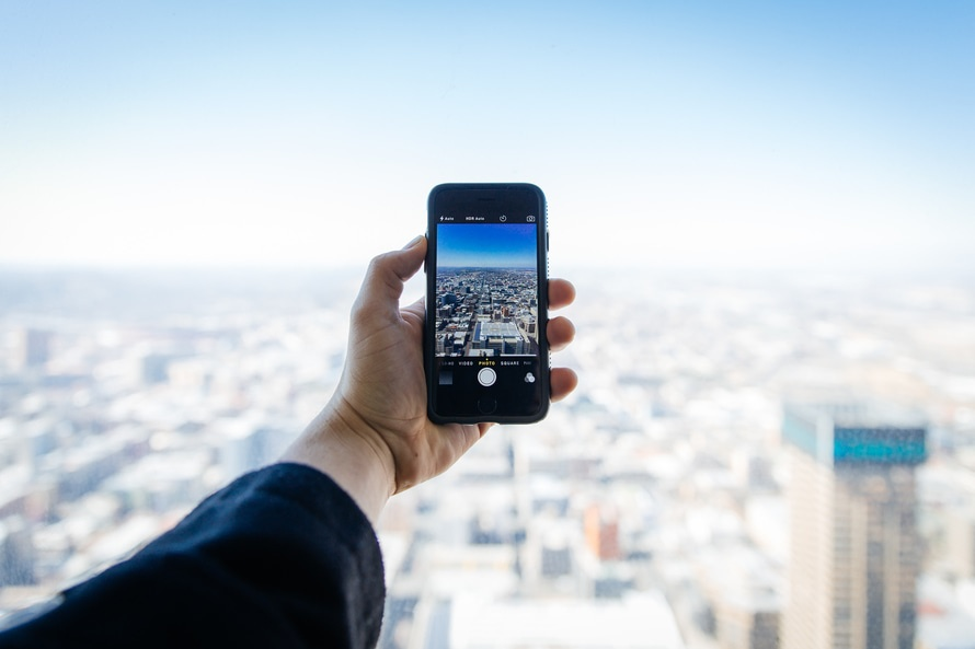 Camera foto de pe telefon