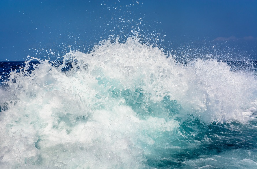 White and Blue Wave Rush
