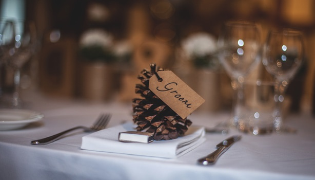 Groom Text on Table