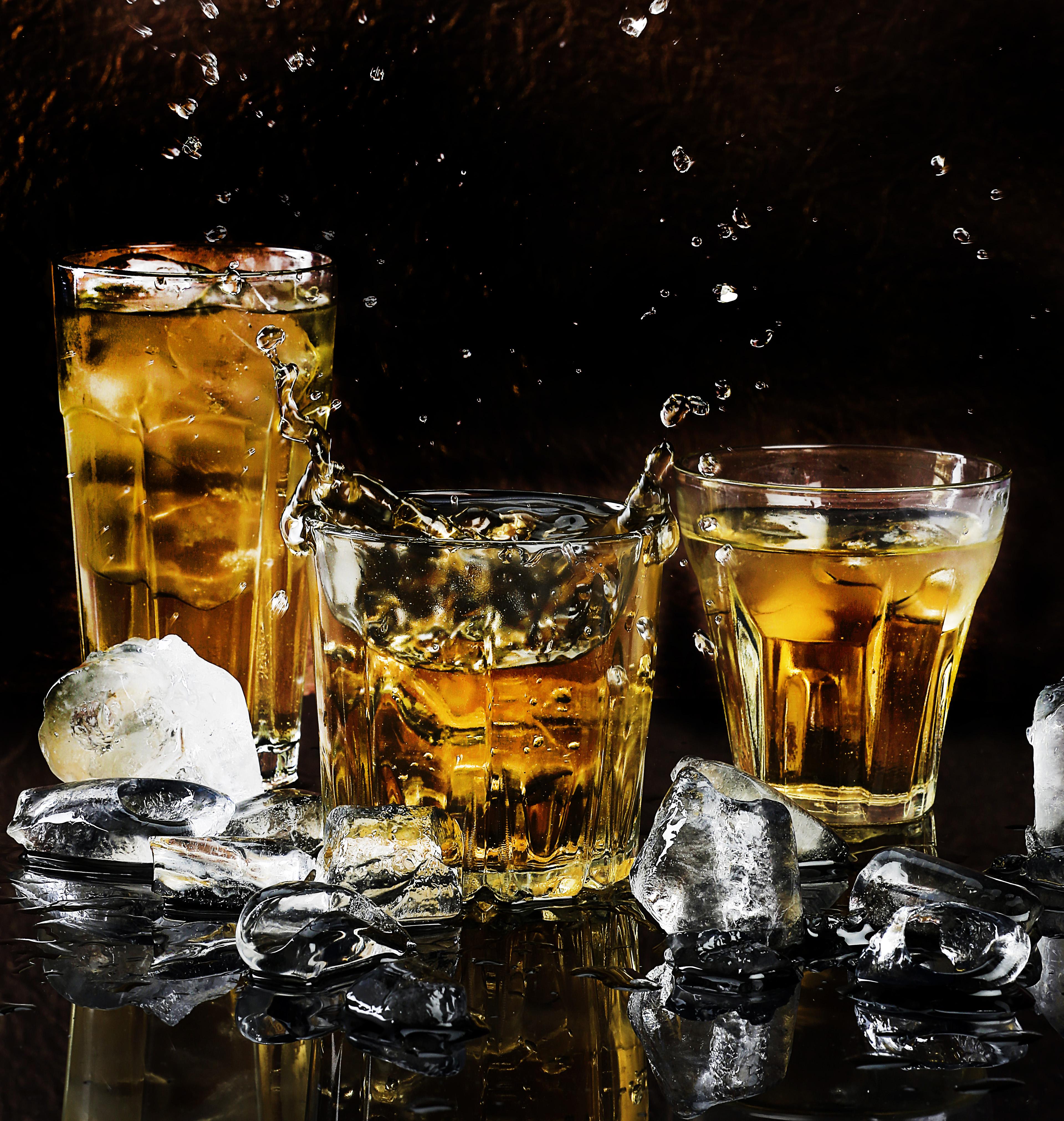 free stock photo of alcohol bar black background