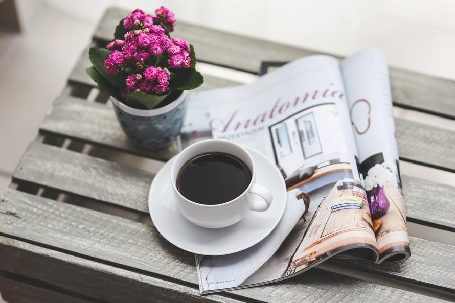 Coffee & magazine