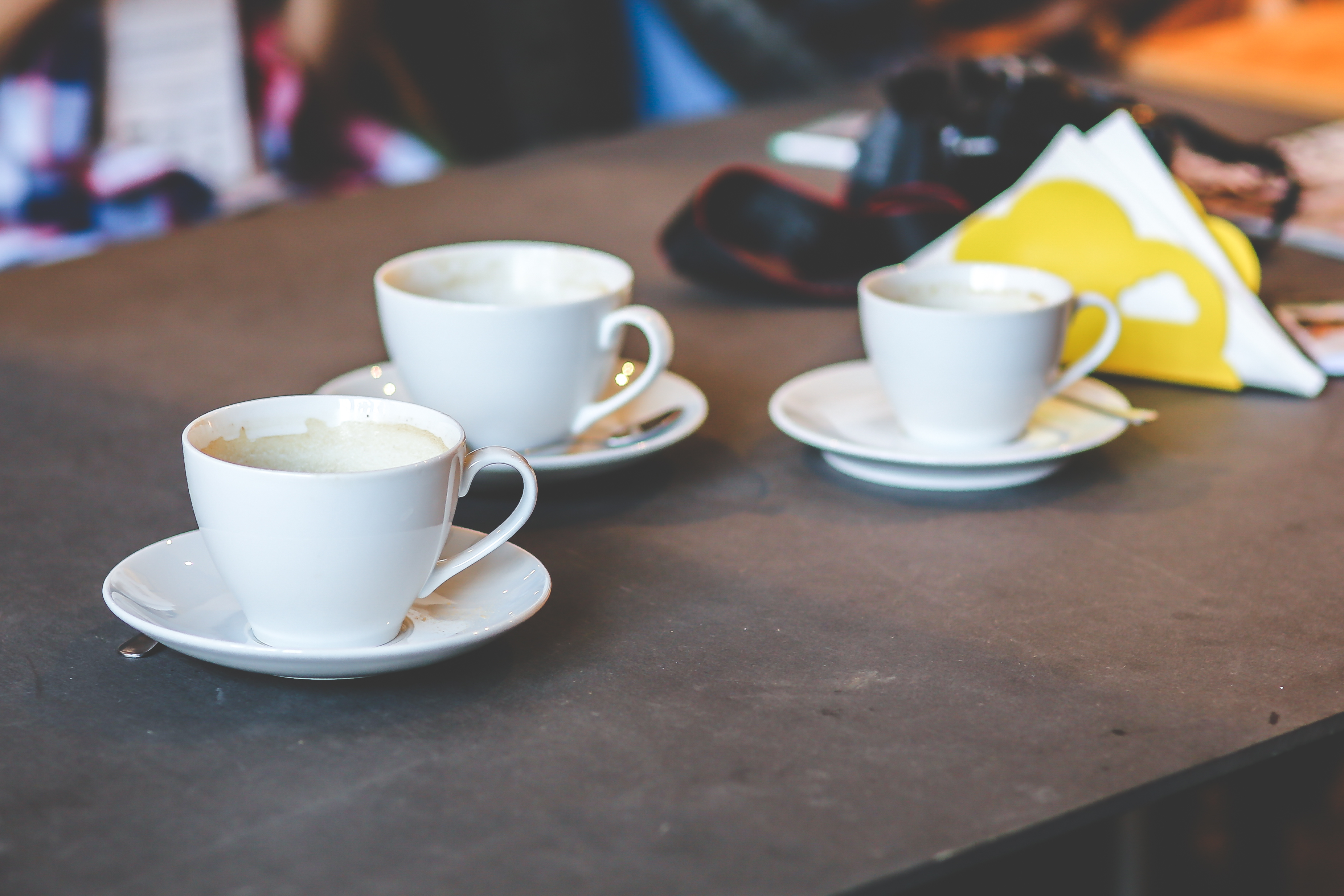 Three white cups free stock photo free download geotapseo Gallery