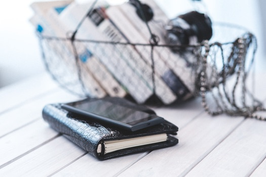 Free stock photo of smartphone, books, contacts