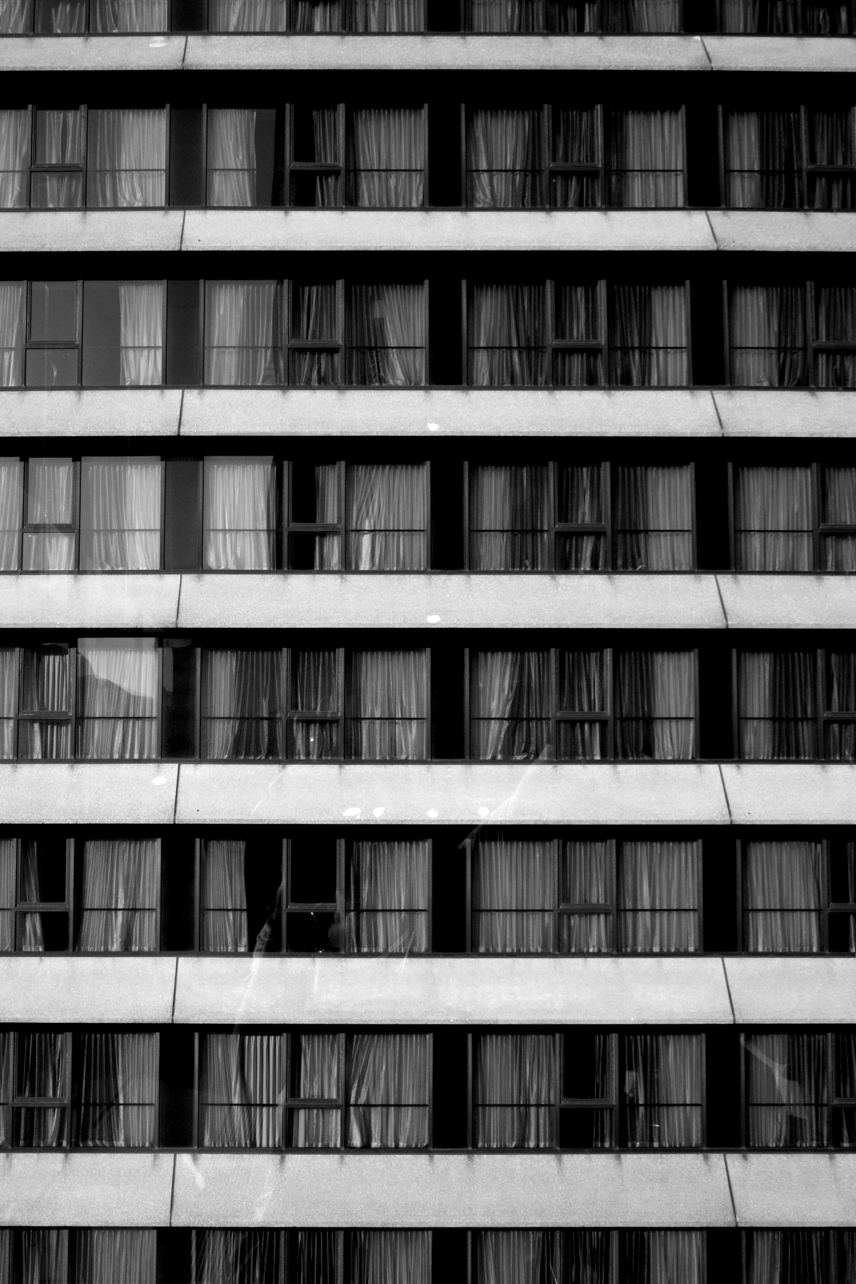White Curtains on Window Free Stock
