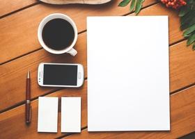 Free stock photo of coffee, smartphone, desk, pen