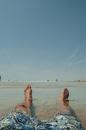 sea, sky, man
