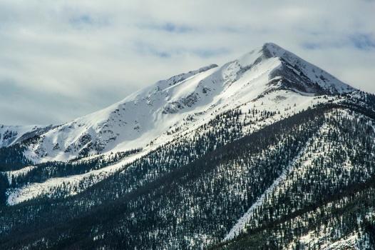 snow, landscape, mountains, nature