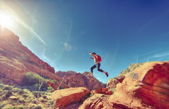 Free stock photo of man, person, jumping, desert