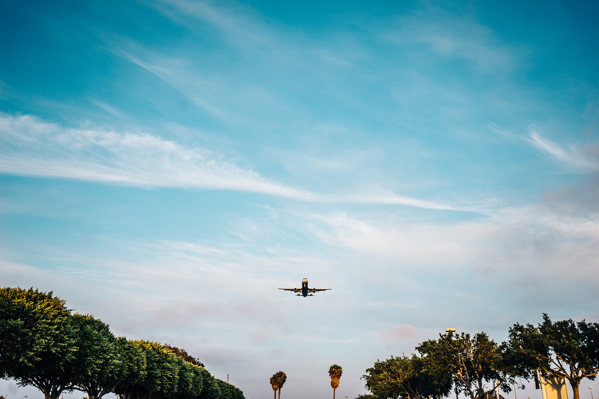 free stock photo of airplane flying landing