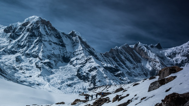 cold, snow, winter, mountain