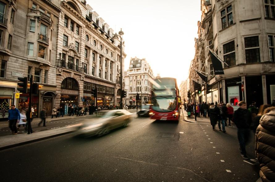 city, cars, people