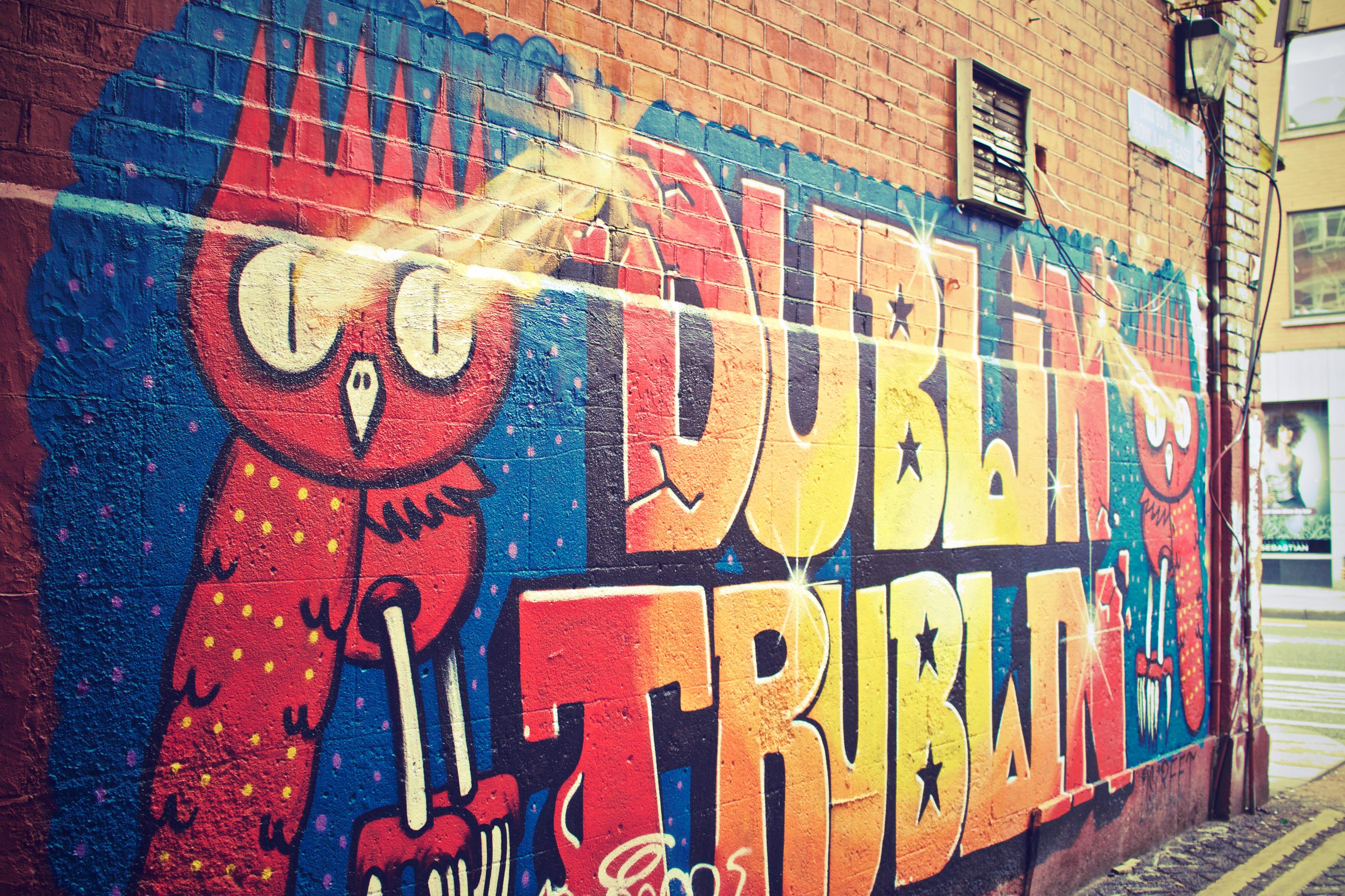 Free stock photo of art dublin graffiti for Dublin wall mural