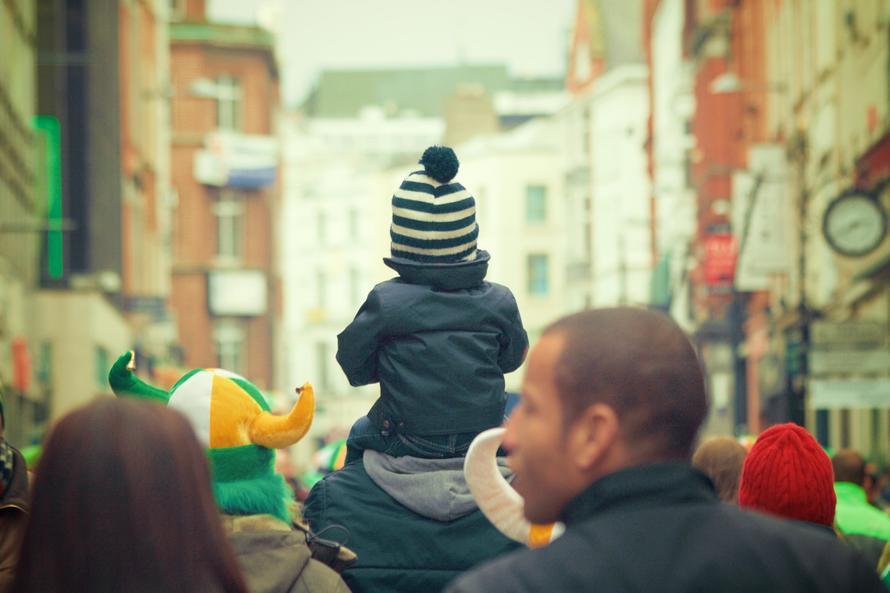 people, crowd, child