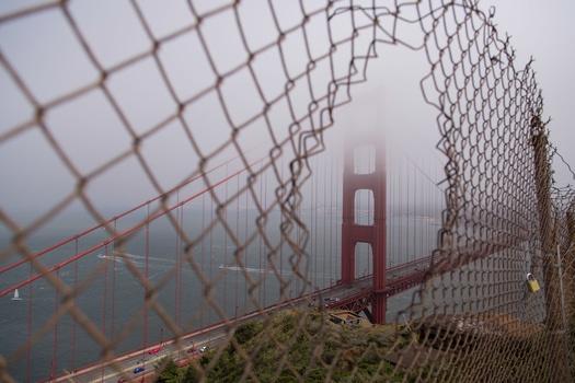 Free stock photo of landmark, fog, haze, fence
