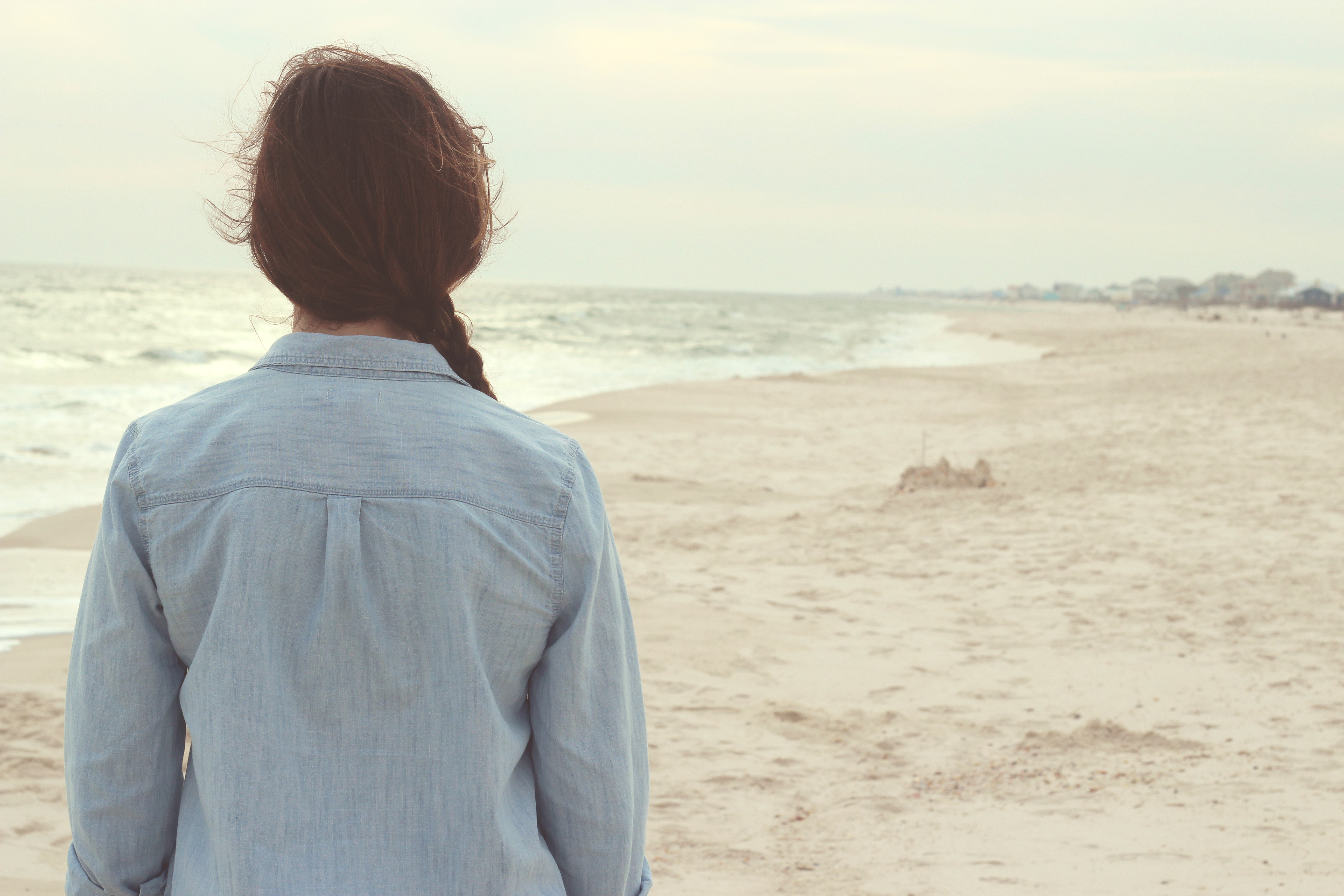 free stock photo of alone back beach