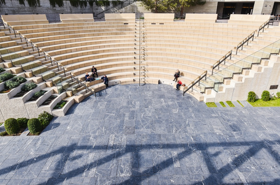 stairs, people, sitting