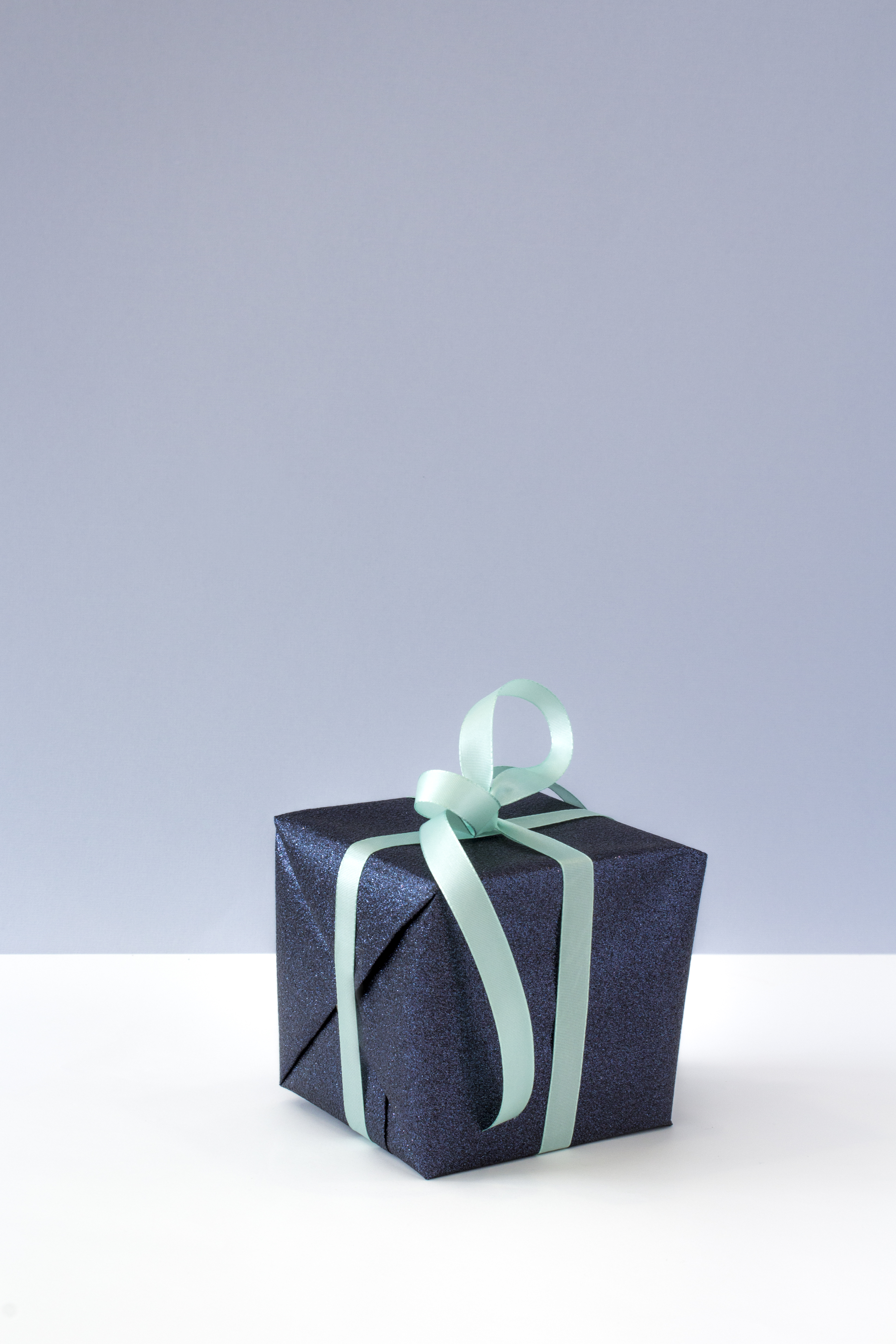 Blue Gift Box With Blue Ribbon 183 Free Stock Photo