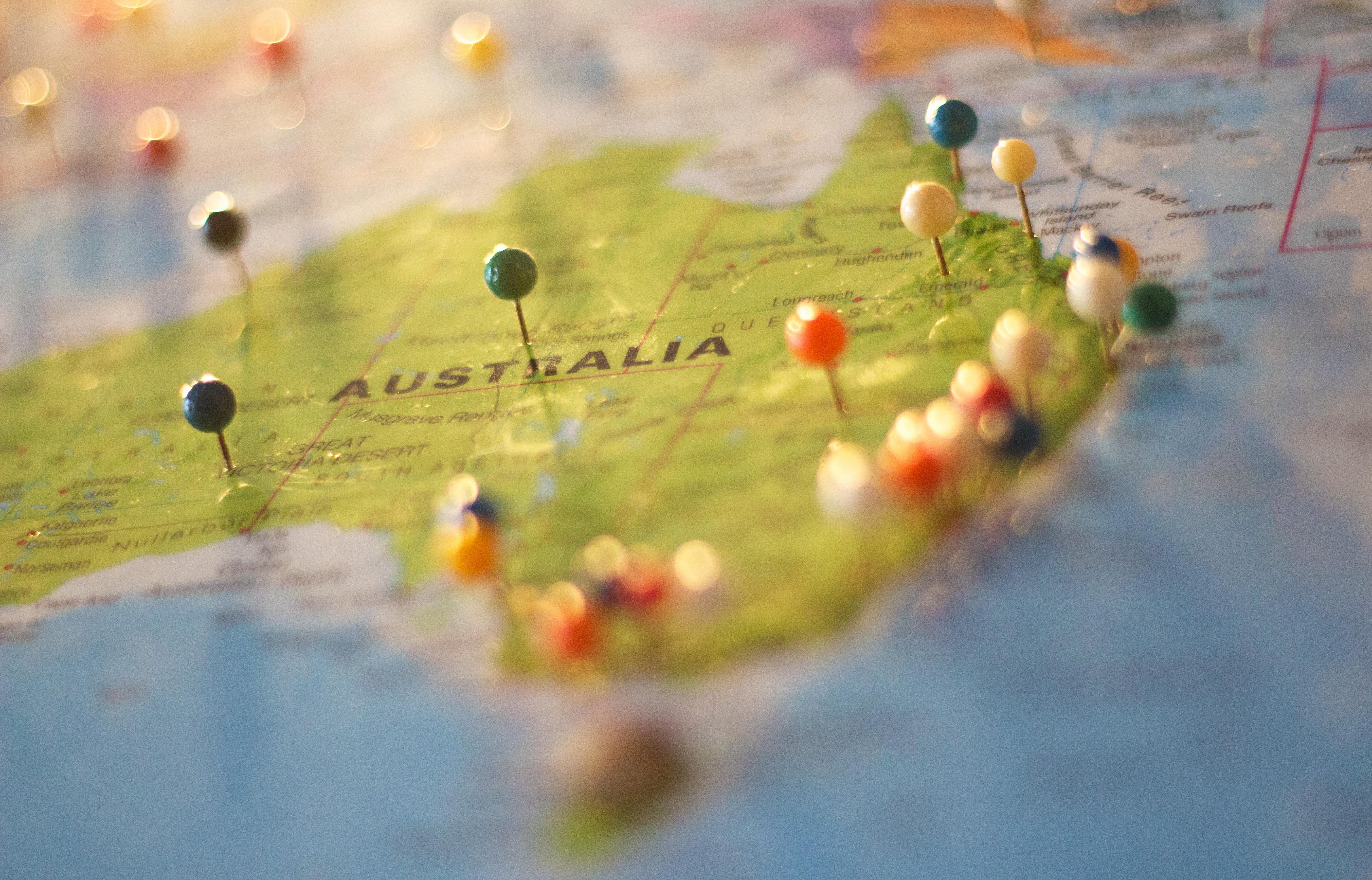 Stock Charts Australia: Australia Map · Free Stock Photo,Chart