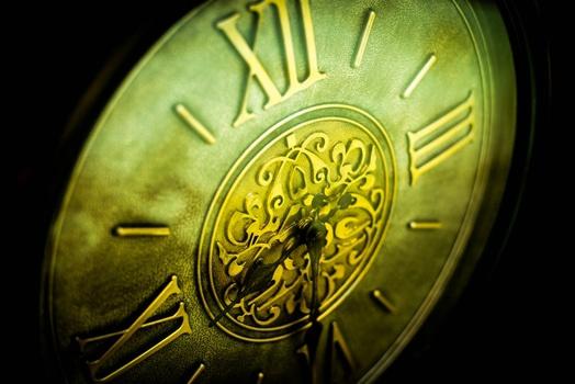 Gray Roman Numeral Clock