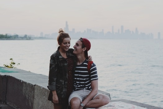 Free stock photo of sea, couple, love, people