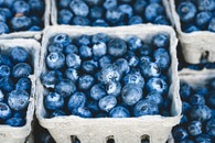 food, healthy, blue