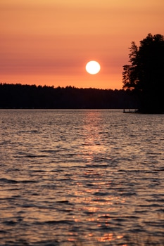 Free stock photo of sunset, water, sun, twilight