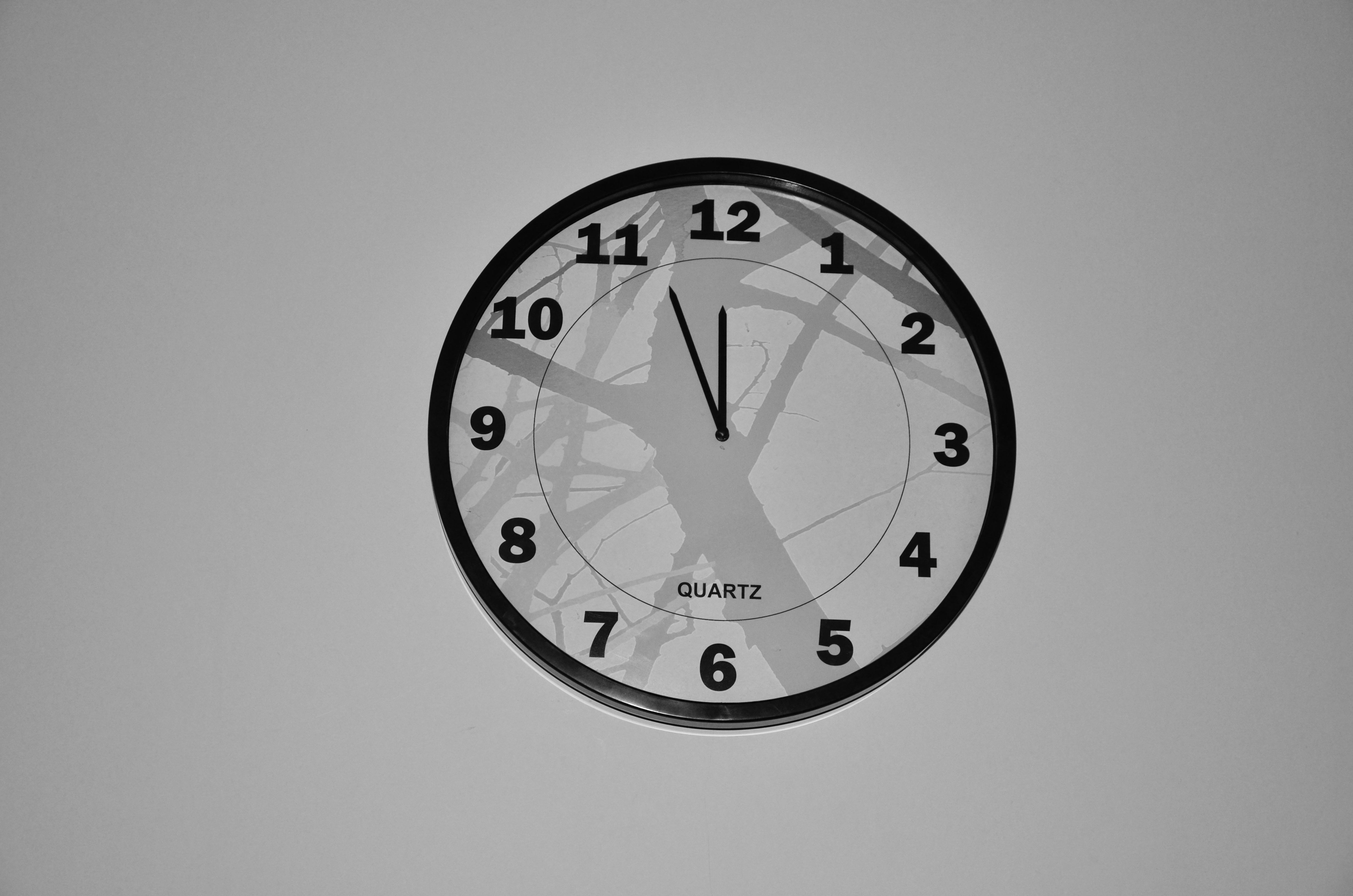 Free stock photos of wall clock pexels free stock photo of black and white time watch clock amipublicfo Image collections