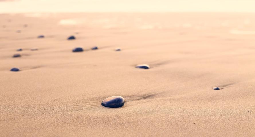 beach, sand, desert, stones