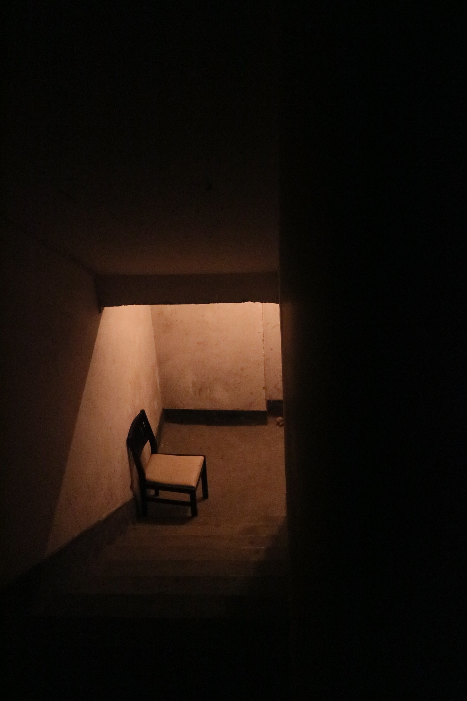 Black and White Wooden Chair Near Stair · Free Stock