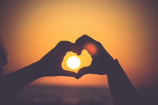 Free stock photo of love, heart, sun, warmth