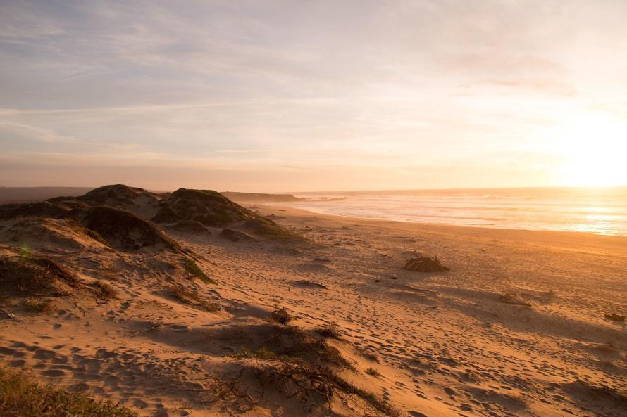landscape, sunset, beach