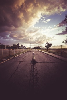 Free stock photo of road, clouds, street, evening