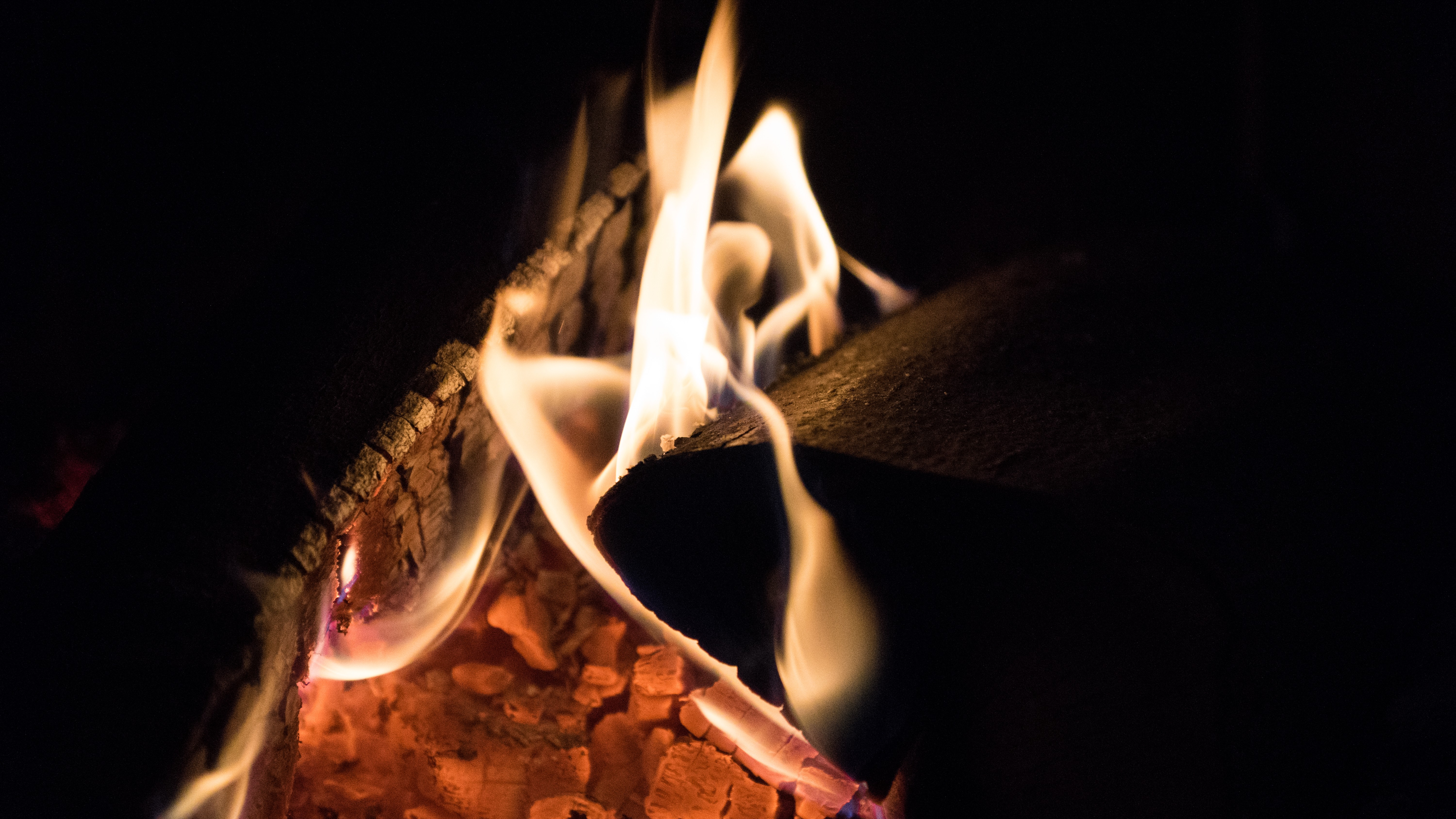 free stock photo of fire fireplace wood