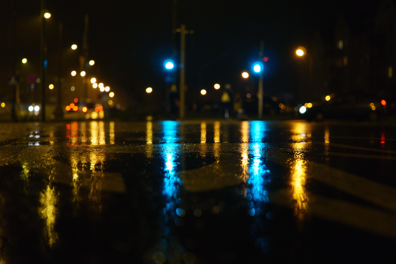 Free stock photo of lights, night, street