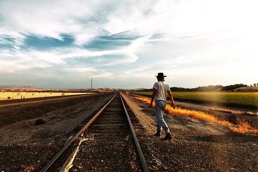 Free stock photo of man, person, walking, rails