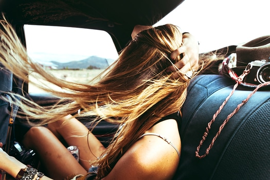 Free stock photo of woman, girl, car, joy