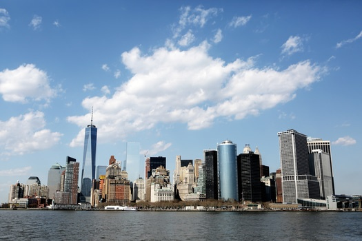 Free stock photo of city, skyline, new york, skyscrapers