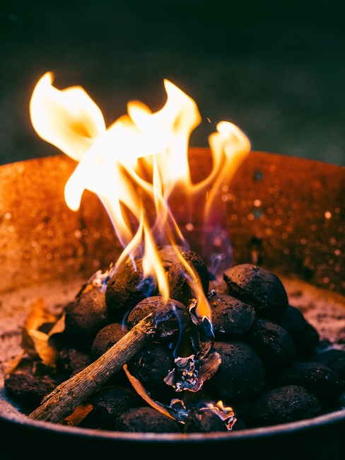 fire, outdoors, camping