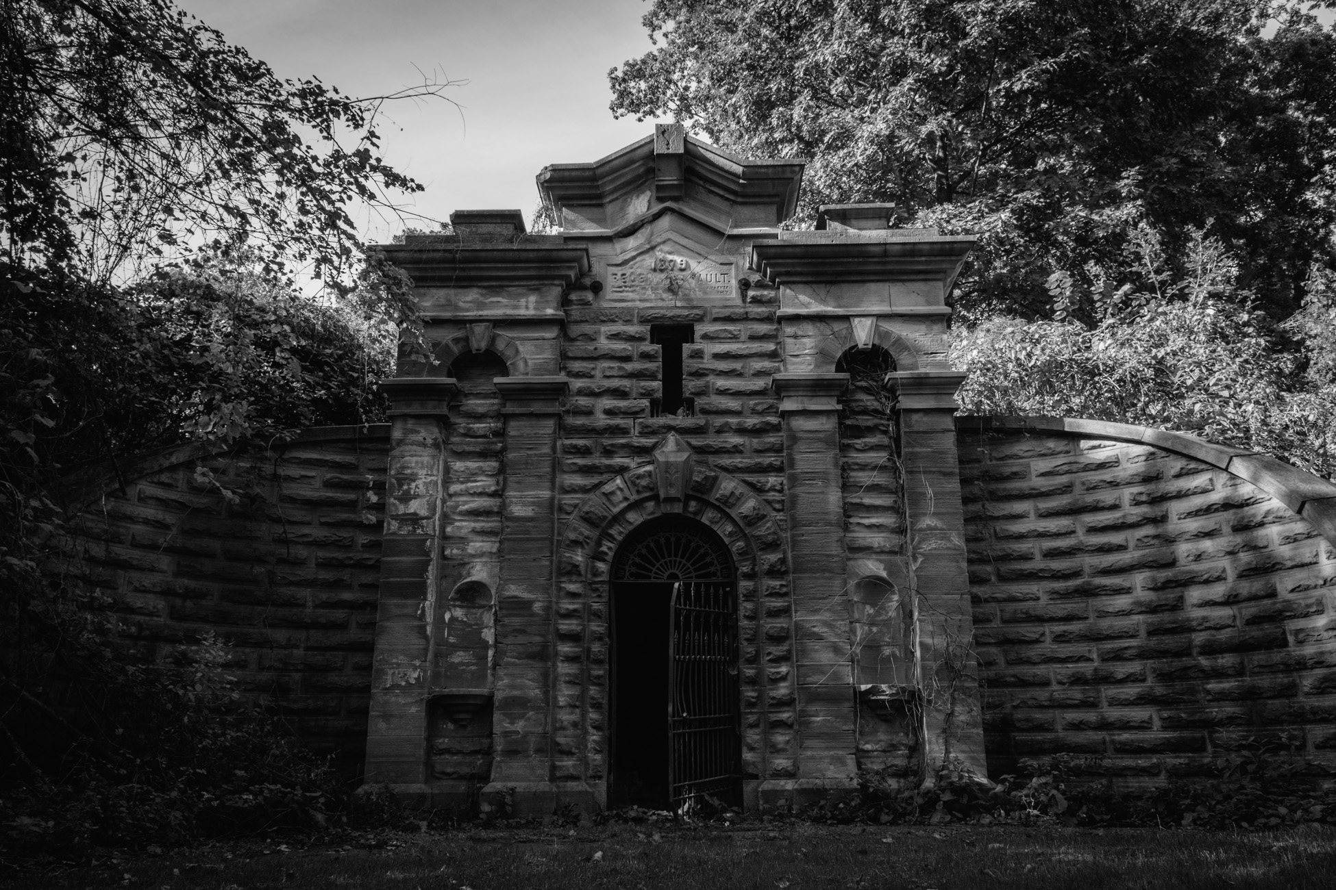 Free stock photo of black and-white, cemetery