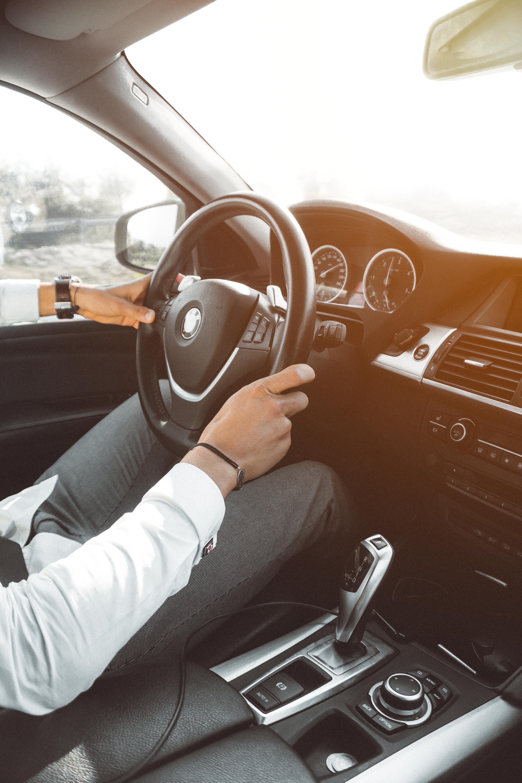Man In White Dress Shirt Holding Steering Wheel 183 Free
