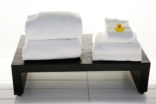 Free stock photo of hotel, bathroom, towels, rubber duck