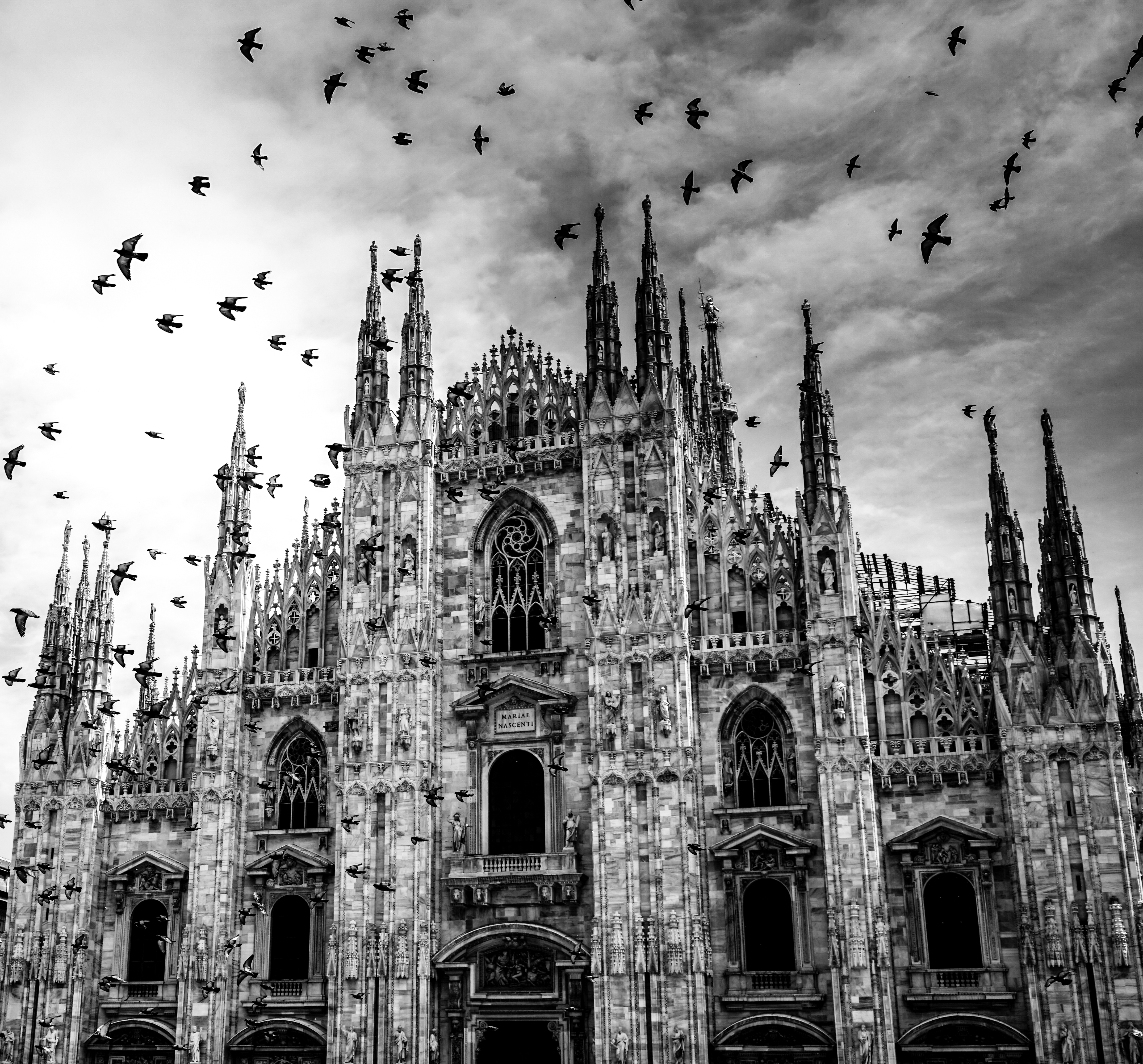 Grayscale Cathedral Photograph · Free Stock Photo