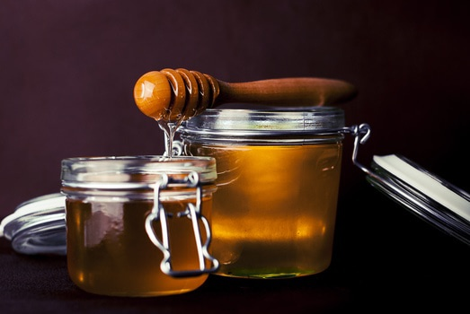 Free stock photo of spoon, glass, honey, jar