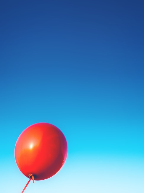 balloon, float, red