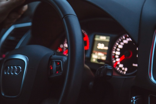 Free stock photo of car, driving, black, audi