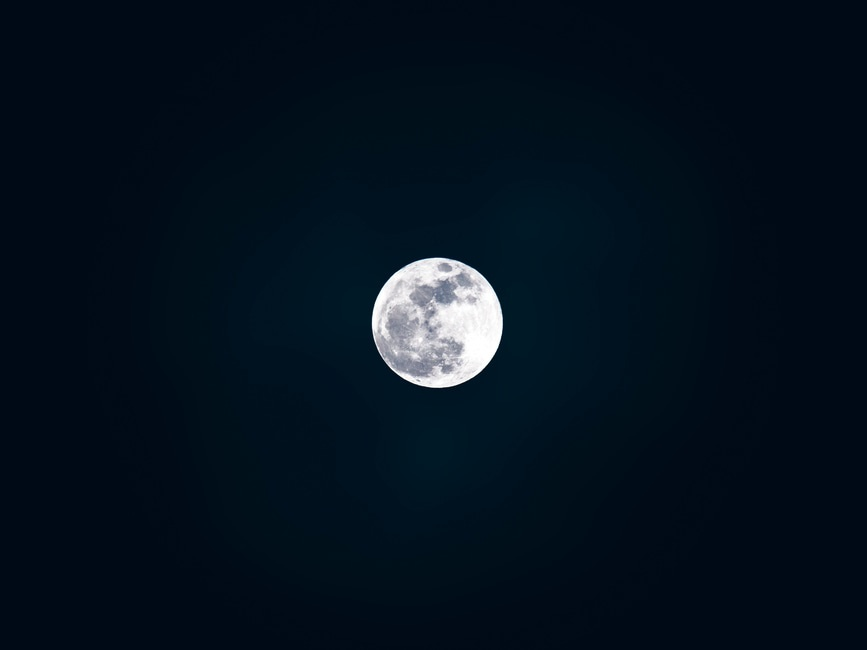 sky, space, moon
