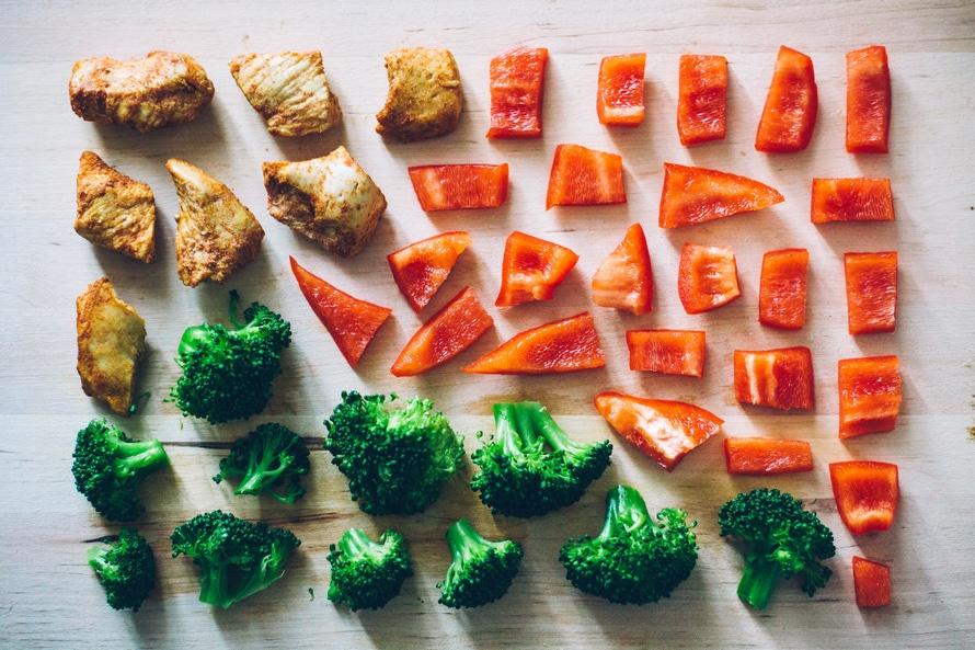 healthy, vegetables, restaurant